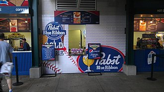 Pabst Blue Ribbon - Pabst Blue Ribbon concession stand at Progressive Field in Cleveland.