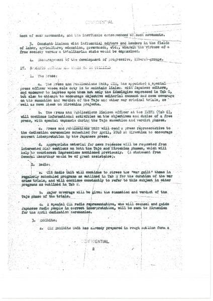 Proposed War Guilt Information Program Third Phase 3 March 1948