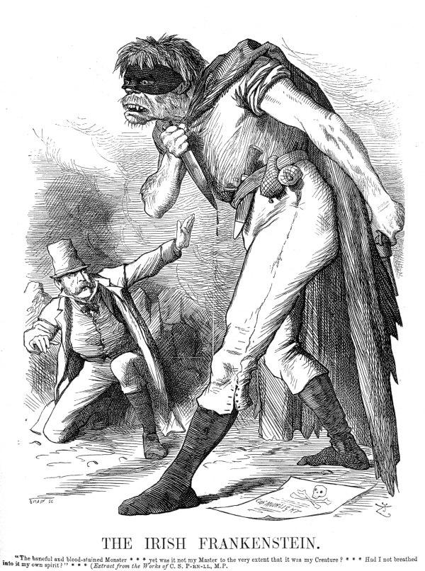 Punch Anti-Irish propaganda (1882) Irish Frankenstein