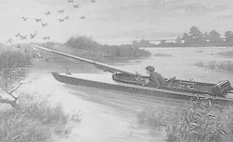 Punt gun - A punt gun as illustrated in Science and Mechanics magazine in October 1911