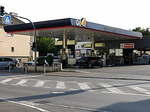 Kuwait Petroleum Corporation - A Q8 petrol station in Hesperange, Luxembourg