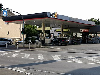 Kuwait Petroleum Corporation - A Q8 petrol station in Hesperange, Luxembourg