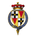 Quartered arms of Sir Edmund Brydges, 2nd Baron Chandos, KG.png