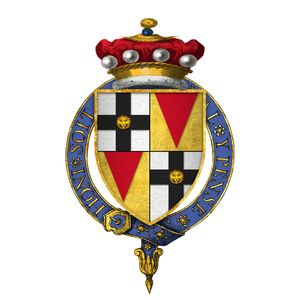 Edmund Brydges, 2nd Baron Chandos - Quartered arms of Sir Edmund Brydges, 2nd Baron Chandos, KG
