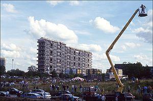 Hutchesontown C - 16-32 Queen Elizabeth Square, moments before demolition