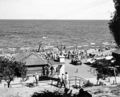 Queensland State Archives 2175 The Pavilion and bathers Redcliffe December 1937.png