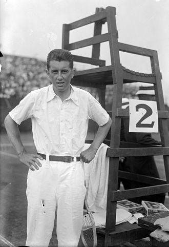 R. Norris Williams - Williams in 1916 at his match against William M. Johnston