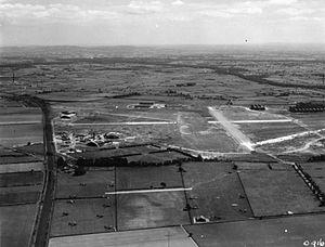 Hawarden Airport - RAF Hawarden in World War II viewed from north-north-west