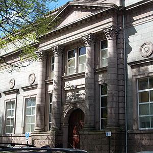 Robert Gordon University - Administration Building on Schoolhill in Aberdeen city centre.
