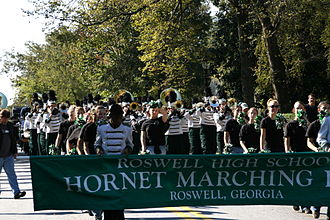 Roswell High School (Georgia) - The Roswell High School Marching Band participating in the 2007 Roswell Youth Day Parade