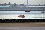 RNLI hovercraft and Liverpool Pilot vessel, River Mersey (geograph 4549844).jpg