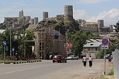Rabati Castle in Akhaltsikhe, view from the city.jpg