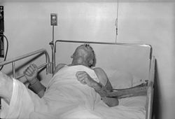 A patient with rabies, 1959