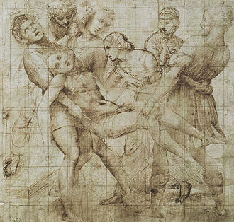 The Deposition (Raphael) - Another study, Uffizi