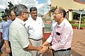 Raghvendra Singh Shaking Hands With Shaikh Emdadul Islam - Science City - Kolkata 2018-07-20 2456.JPG