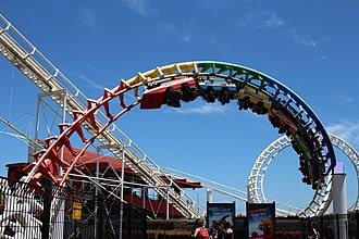 Rainbow's End (theme park) - Rainbow's End Corkscrew Coaster