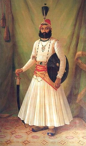 Fateh Singh of Udaipur and Mewar - Maharaja Fateh Singh, portrait by Raja Ravi Varma