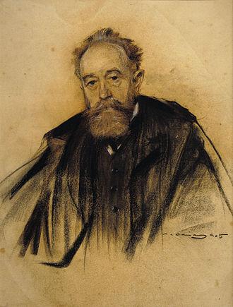 Aureliano de Beruete - Aureliano de Beruete; portrait by Ramon Casas (date unknown)