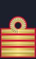 Rank insignia of capitano di vascello del Corpo di Commissariato of the Italian Navy.png