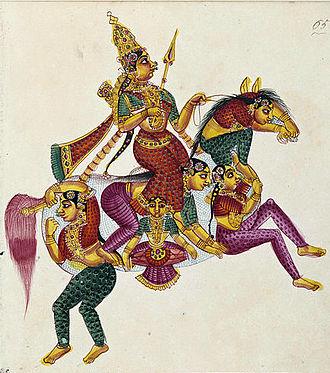 Rati - Rati on a composite horse.