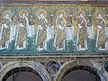 Ravenna, sant'apollinare nuovo, int., sante vergini offerenti, epoca del vescovo agnello, 03.JPG