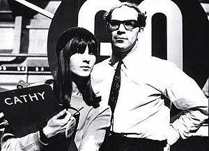 Ready Steady Go! - Presenter Cathy McGowan and producer Elkan Allan.