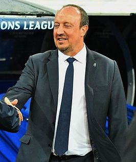 Benítez als coach van Real Madrid in 2015