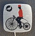 Reclamespeldje van een oud model fiets foto 9.JPG