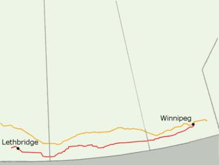 Red Coat Trail highway in Saskatchewan
