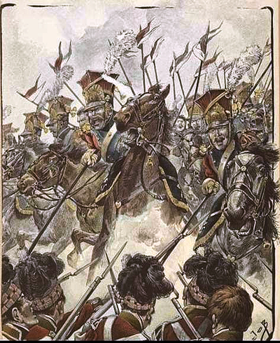 Polish lanciers charging on Scottish infantry Red Lancers of the Imperial Guard charging on Scottish infantry.png