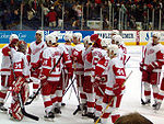 Les Reds Wings lors d'un match en 2005 vs les Blue Jackets