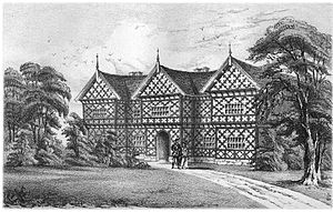 Reddish - Reddish Hall as drawn by James Croston (Booker, p211)