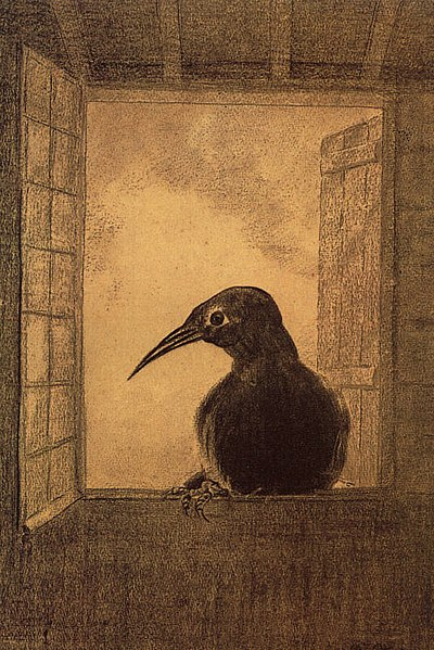 http://upload.wikimedia.org/wikipedia/commons/thumb/3/38/Redon_the-raven.jpg/400px-Redon_the-raven.jpg
