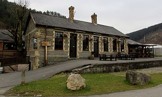 """Rhondda and Swansea Bay Railway - The old station at Cymmer, now """"The Refreshmnent Rooms"""""""