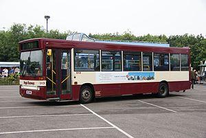 Regal Busways - Plaxton Pointer bodied Dennis Dart in Clacton-on-Sea in June 2010