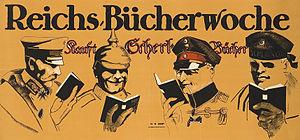 August Scherl - Buy Scherl books!, advertising poster by Hans Rudi Erdt, 1915/16