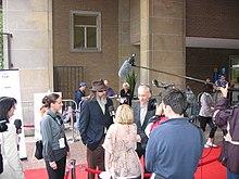 Larry Charles e Bill Maher parlano alla stampa alla presentazione del film al Toronto Film Festival 2007