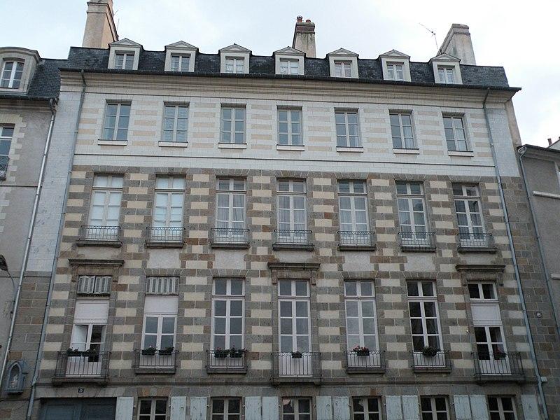 Fichier:Rennes 15ruedelaMonnaie façade.jpg
