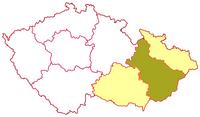 Poloha olomoucké arcidiecéze v rámci moravské církevní provincie