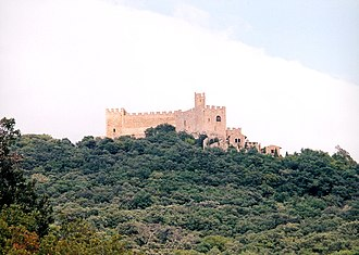 La Jonquera - Panorama of the Requesens Castle