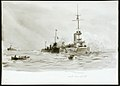 Rescuing the crew of the German light cruiser 'Mainz' at the Battle of the Heligoland Bight, 28 August 1914 RMG PV3448.jpg