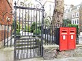 Retaining Wall and Railings with Overthrows, Gate and Letter Boxes to Pountney Churchyard 01.jpg