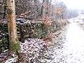 Retaining wall beside railway - Feb 2012 - panoramio.jpg