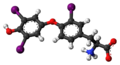 Reverse triiodothyronine zwitterion 3D ball.png
