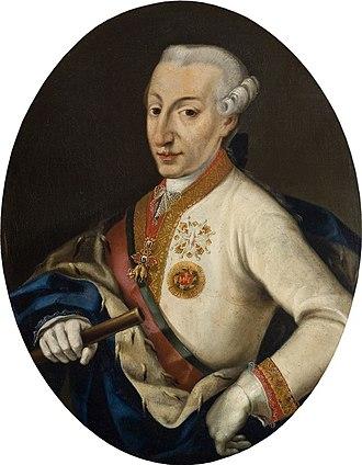 Ercole III d'Este, Duke of Modena - Portrait by Guzzaletti Gian Battista, 1780