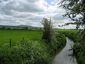 River Camlad - The river, here forming the English-Welsh border, to the northwest of Chirbury