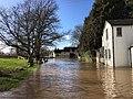 River Teme floods at Leintwardine, February 2020 (geograph 6393207).jpg