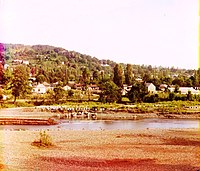 View of the Sochi River and Sochi from the west. Photograph by Sergey Prokudin-Gorsky circa 1905-1915