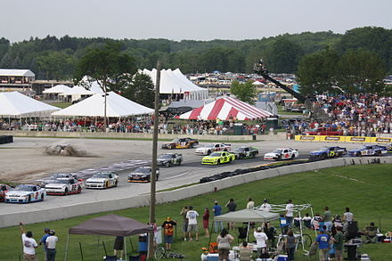 The Nationwide Series at Road America in 2011, using the Car of Tomorrow design. Road America 2011 Nationwide Final Spin.jpg