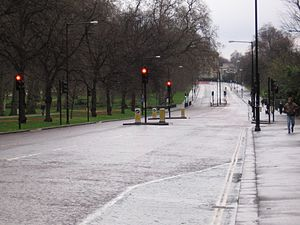 Chasing Pavements - Image: Road near Hyde Park, London